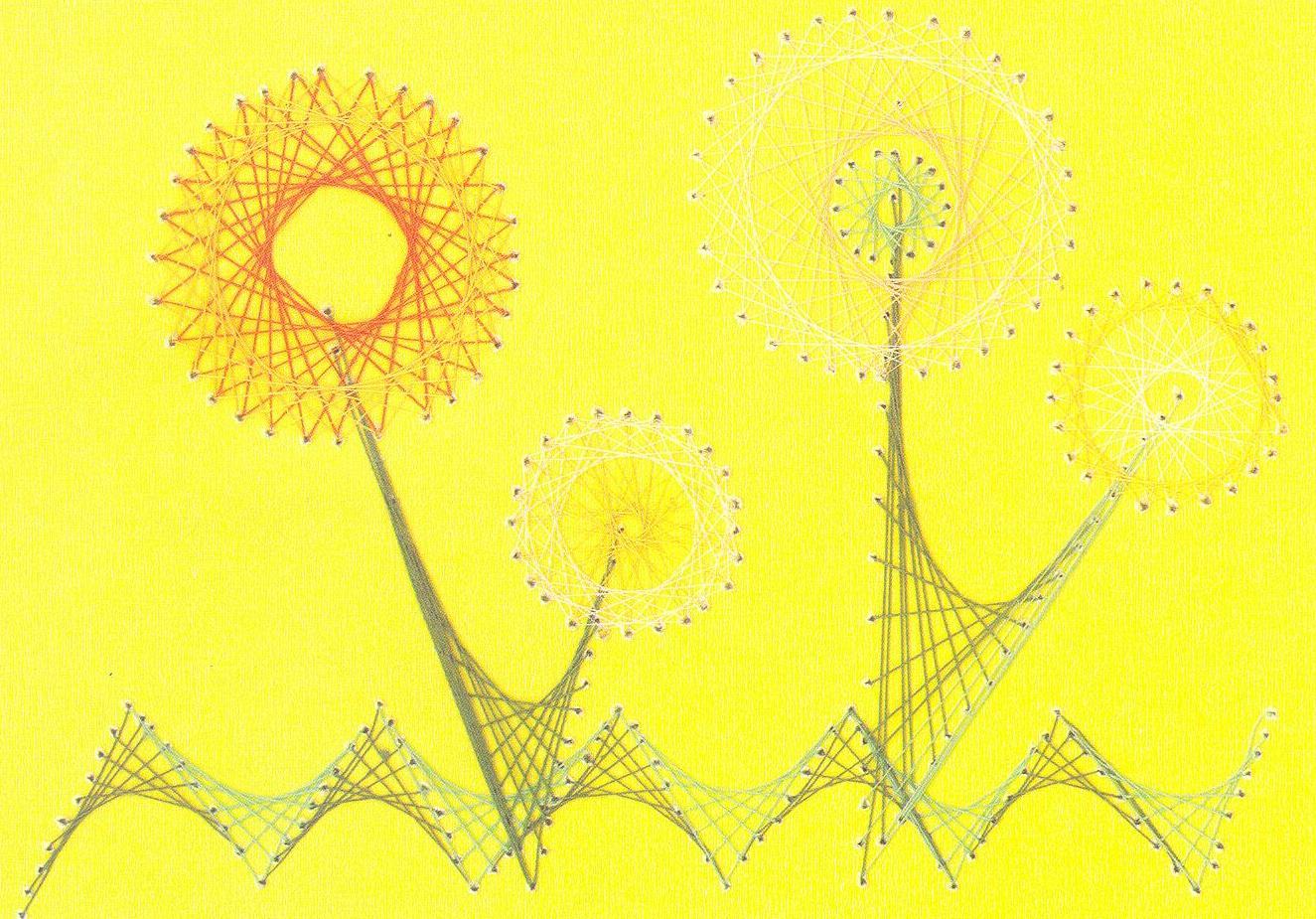 Изонить и нитяная графика схемы